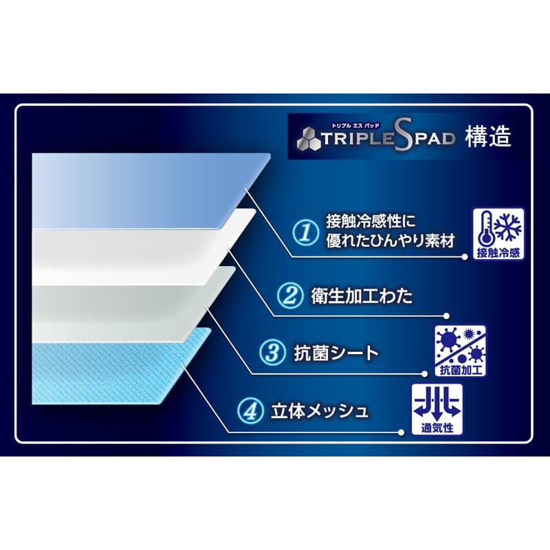 西川 トリプルS 敷きパット SD ブルー(B)