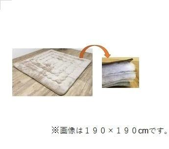 6層こたつ厚敷 フラン 190×190 BE