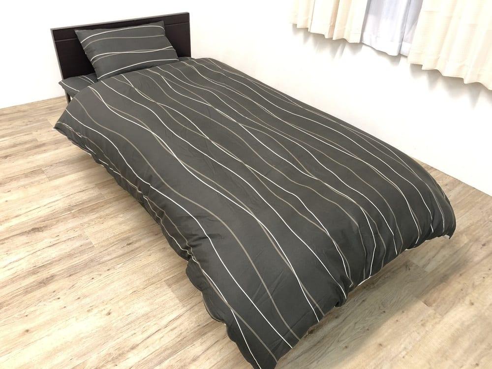 すぐに使える寝具6点セット ダーツ BR シングルロング:《カバーもセットになったすぐに使える寝具6点セット》