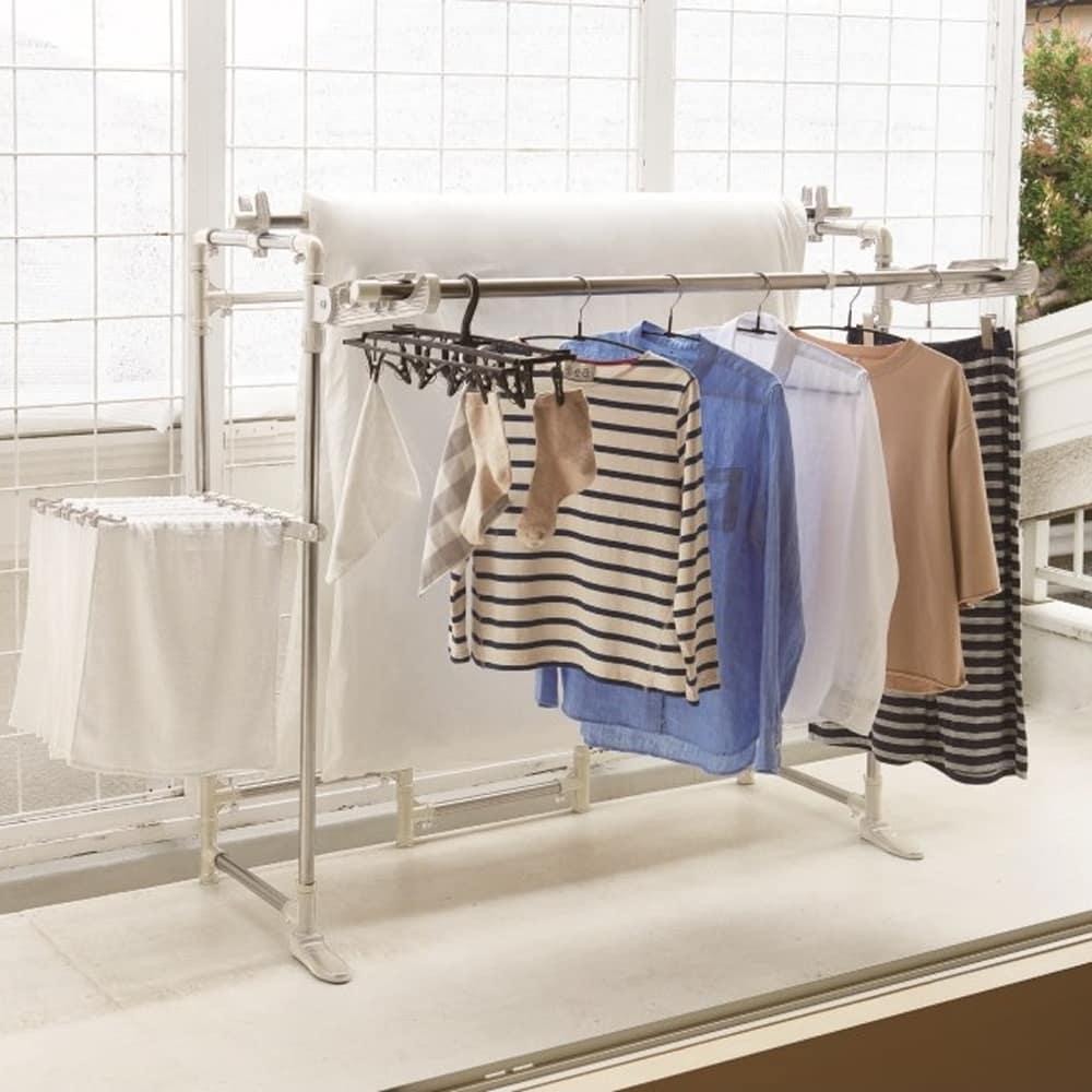 たくさん干せる 万能物干し ND−8412:洗濯物がたくさん干せるベストコの物干しシリーズ