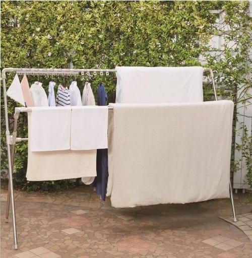 風通しの良い多機能布団干し ND−8415:ふとんが乾きやすい伸縮可能なふとん干し