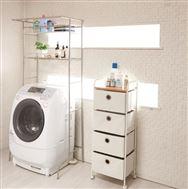 ハンガーが掛けられる洗濯機ラック ND−8420
