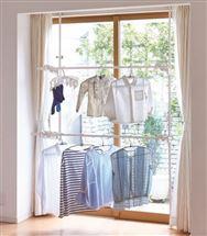 窓枠で使えるつっぱり物干し ND−8425