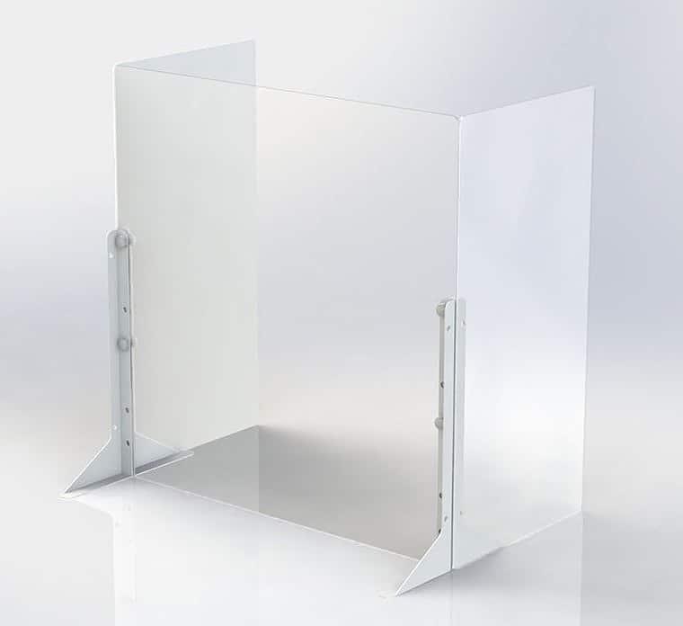 アクリルパーティション用サイドパネル2枚PTS−AC3060:簡単に設置できるパーティションシリーズ