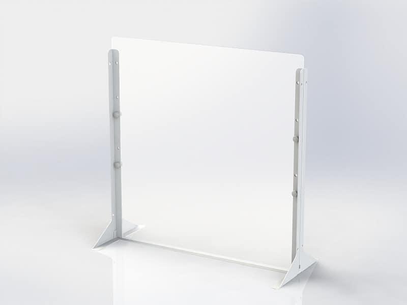デスクトップパーティション 600×600サイズPTS−PP6060:簡単に設置できるパーティションシリーズ