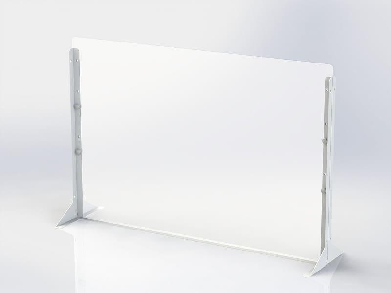 デスクトップパーティション 900×600サイズPTS−PP9060:簡単に設置できるパーティションシリーズ