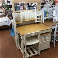 【草加店 展示特価品】 組み換えデスク 椅子・ライト付き スカーレット�V 天板NA