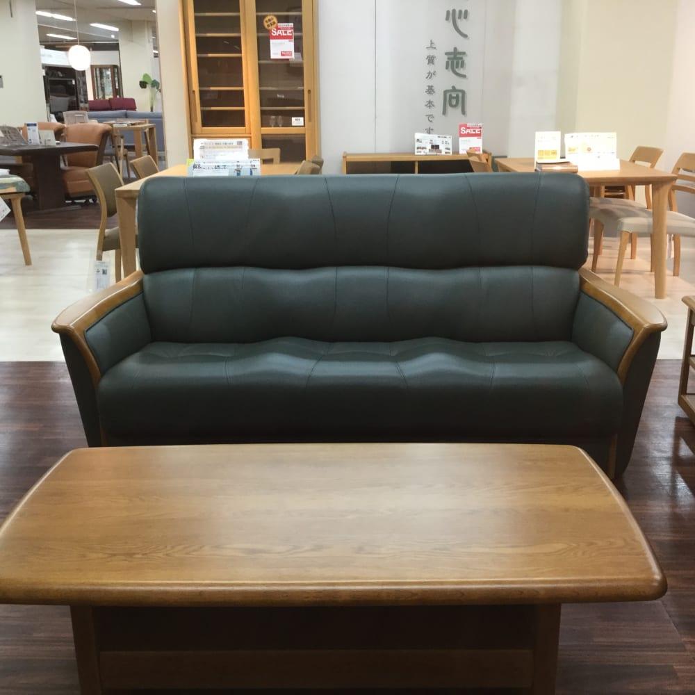 【足利店 展示特価品】三人掛けソファー S-1800