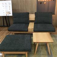 【茅ヶ崎店 展示特価品】 ソファ6点セット 広葉 (WO/サフィロスDGR)