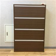 【府中店 展示特価品】シューズボックス 薄型木製シューズボックス ワイド4段 MK-904