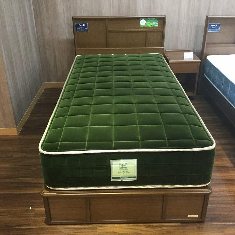 【葛西店 展示特価品】 シングルベッド 【フランスベッド】JE−02引出/JE−ロイヤルグリーン