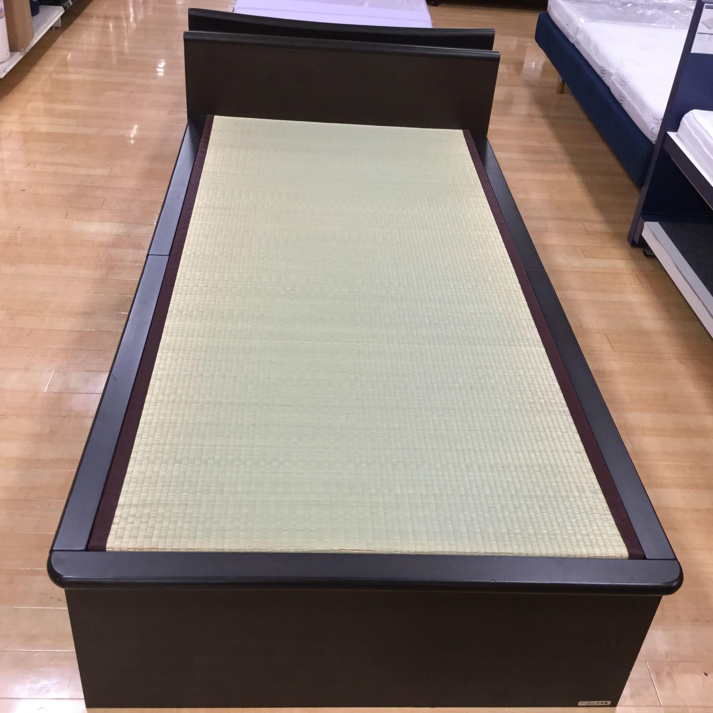 【葛西店 展示特価品】 シングル畳ベッド(フレーム) 秋月C 大型引出し DBN