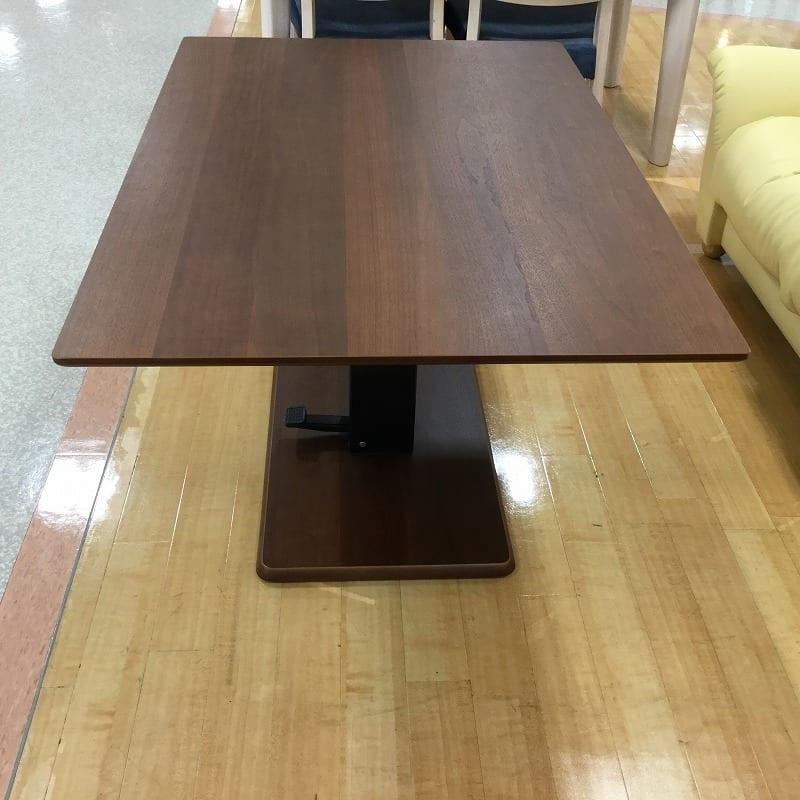 【葛西店 展示特価品】 昇降テーブル(PSマット付) ステップ120長方形H W(OWNT)