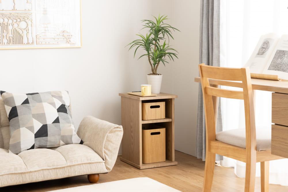■メーカー直送品■【ネット限定】ナイトテーブル サリオスオープン:A4サイズも収納できる便利なナイトテーブル