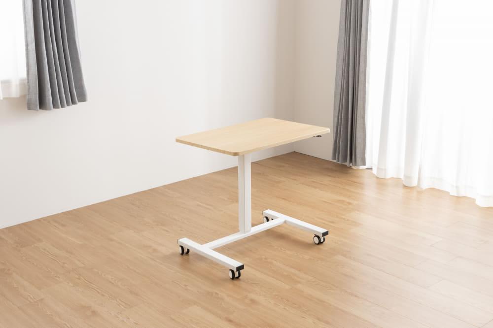 ■メーカー直送品■【ネット限定】昇降テーブル クイズ ナチュラル:昇降サイドテーブル