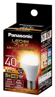 LED電球 全方向タイプ 【40形相当】【E17】 LDA4LGE17Z40ESW2