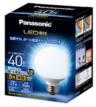 LED電球 ボール形タイプ 【40形相当】【E26】【直径7cm】 LDG4DG70W