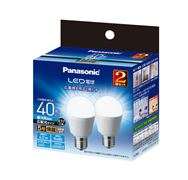 LED電球 広配光タイプ 2個パック 【40W】【E17】 LDA4DGE17ESW2T