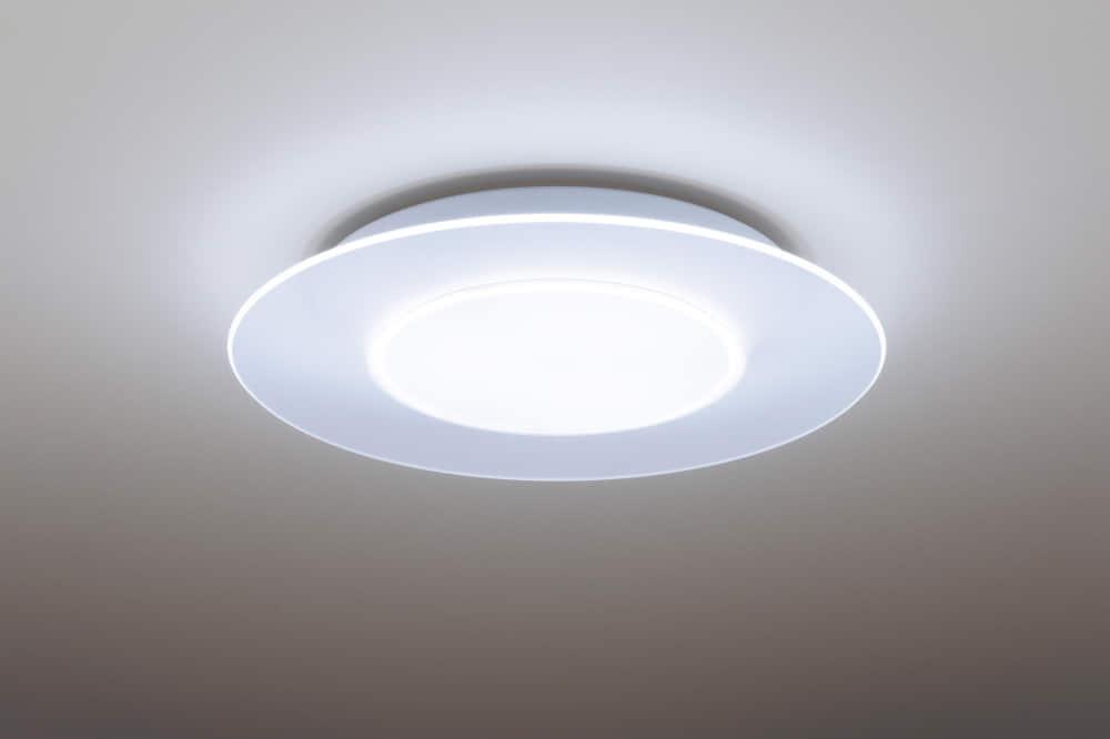 LEDシーリングライト エアパネル(丸) 【〜12畳対応】 HH−CE1280A:センター光とパネル光の点灯・消灯の切替で多彩なあかり空間に