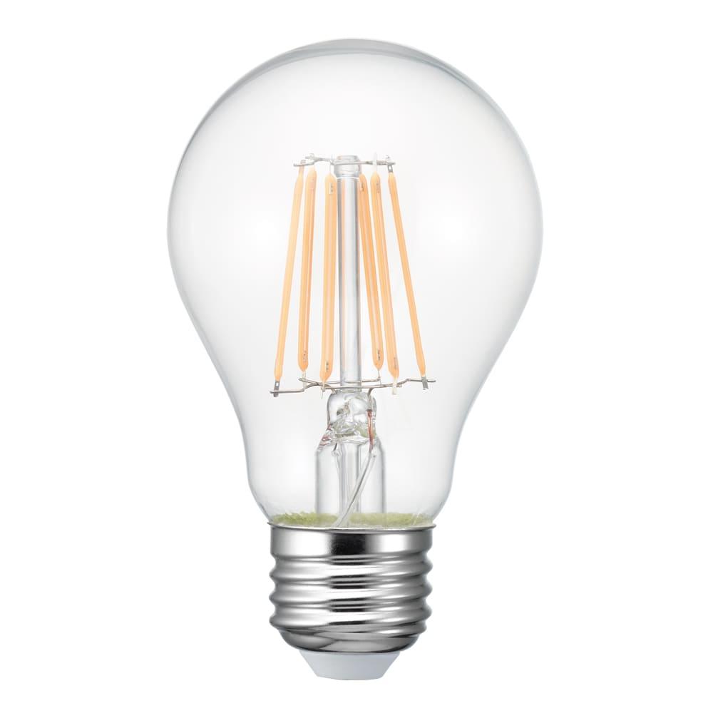 フィラメントLED球A形60W 【60W相当】【E26】 LDA7LGC:キャンドルの灯りのような、あたたかい色合いの光です