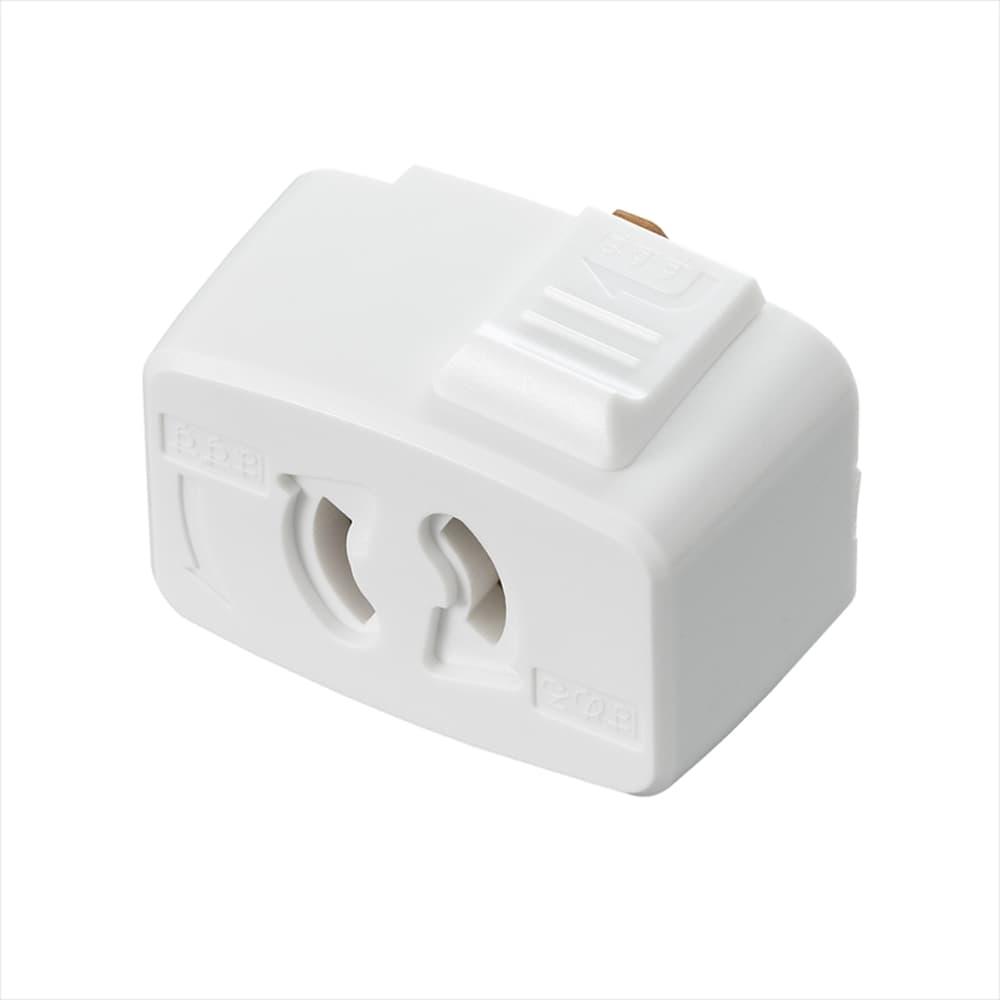 抜け止コンセントプラグ SF6013WH:ライティングダクトからコンセント用プラグに転換できます