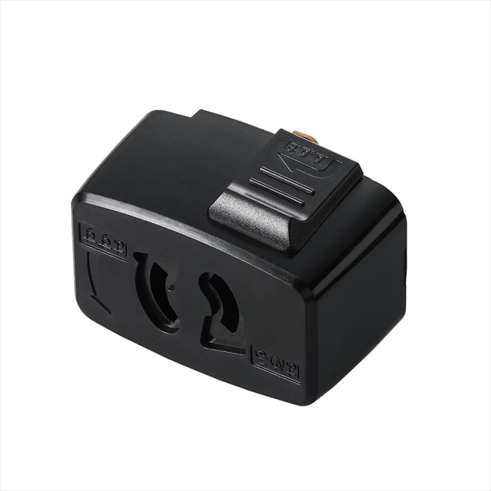 抜け止コンセントプラグ SF6013BK:ライティングダクトからコンセント用プラグに転換できます