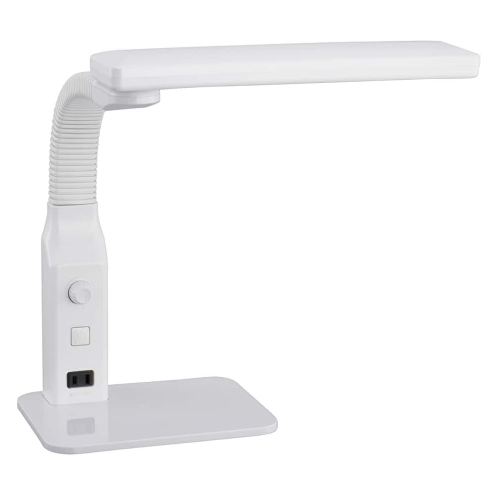 LED学習スタンド 調光 DS−LE94AG−W:優しい明かりで学習や読書に最適