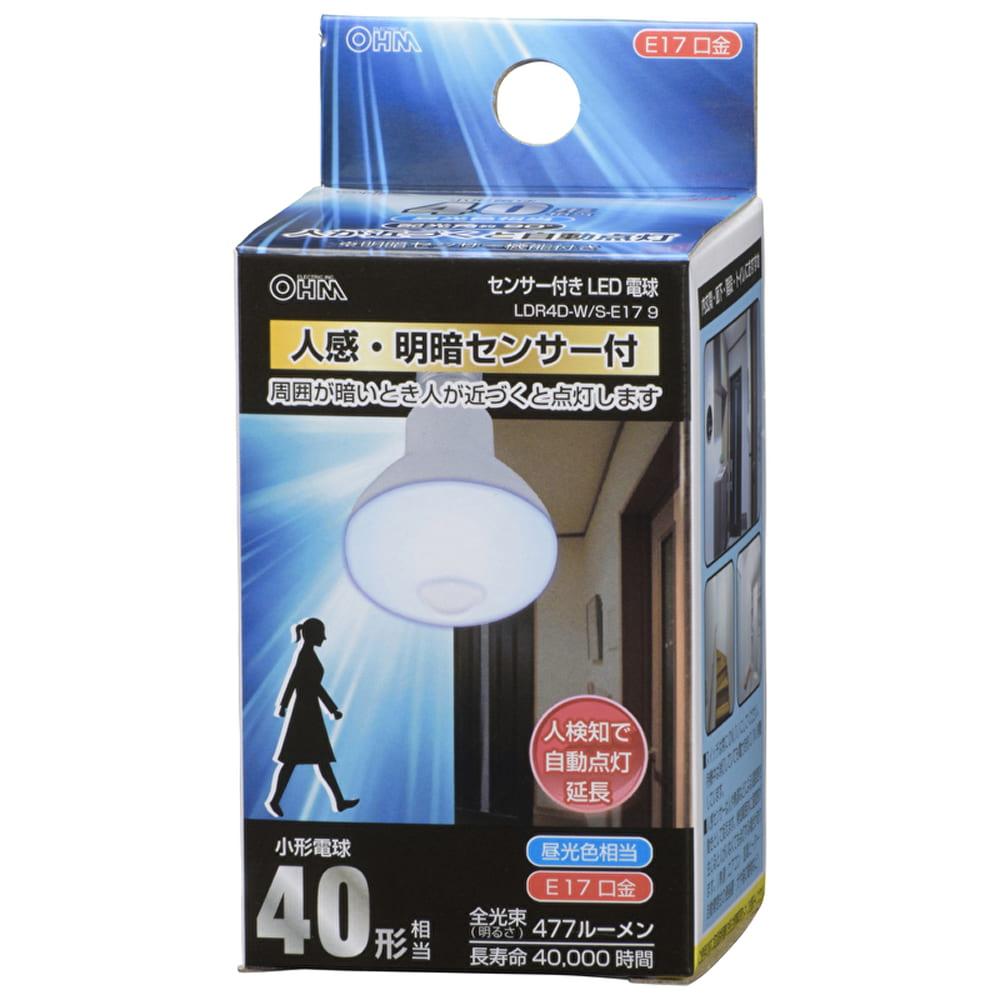 LEDミニレフ 【40W】【E17】 LDR4D−W/S−E17 9:トイレ・廊下の照明に最適