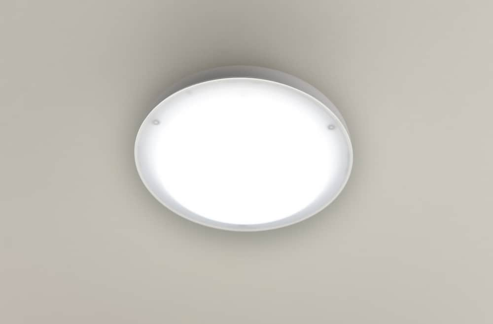 LEDミニシーリング MLC−140N:工事不要ワンタッチ取り付け トイレ・廊下などに適した小型タイプ