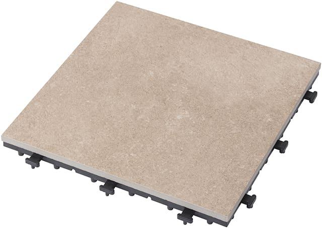 敷くだけタイル磁器 サンドベージュ30×30:天然石に比べ汚れにくい 寒冷地の凍害(凍って割れる)も防ぐ