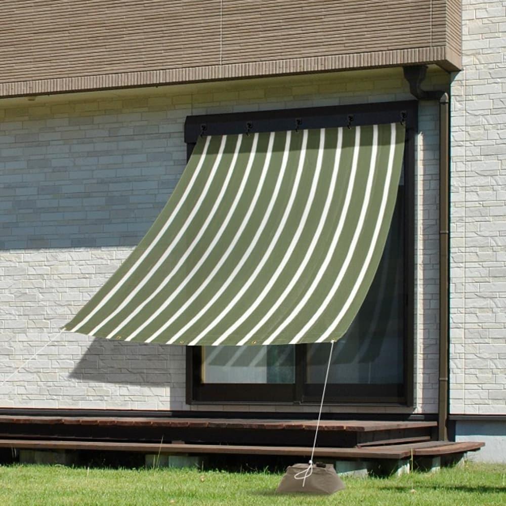 クールシェード プライムグリーンストライプ2×2m12:【UVカット率:約85%】【遮光率:約85〜90%】