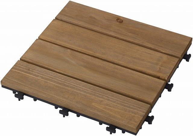 敷くだけデッキ天然木 ナチュラルブラウン30×30:天然木本来の質感やあたたかみを感じることが出来ます