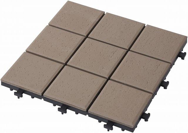 敷くだけタイル磁器 ブラウン30×30:天然石に比べ汚れにくい 寒冷地の凍害(凍って割れる)も防ぐ