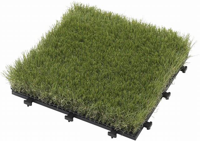 敷くだけ人工芝 30×30:天然芝のディテールを再現 素足で歩いても心地よいしなやかさ