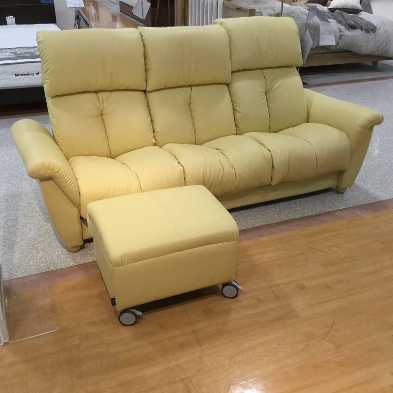 【大和店 展示特価品】 3人掛けソファー+スツール ウィーク 540ソファ/スツール
