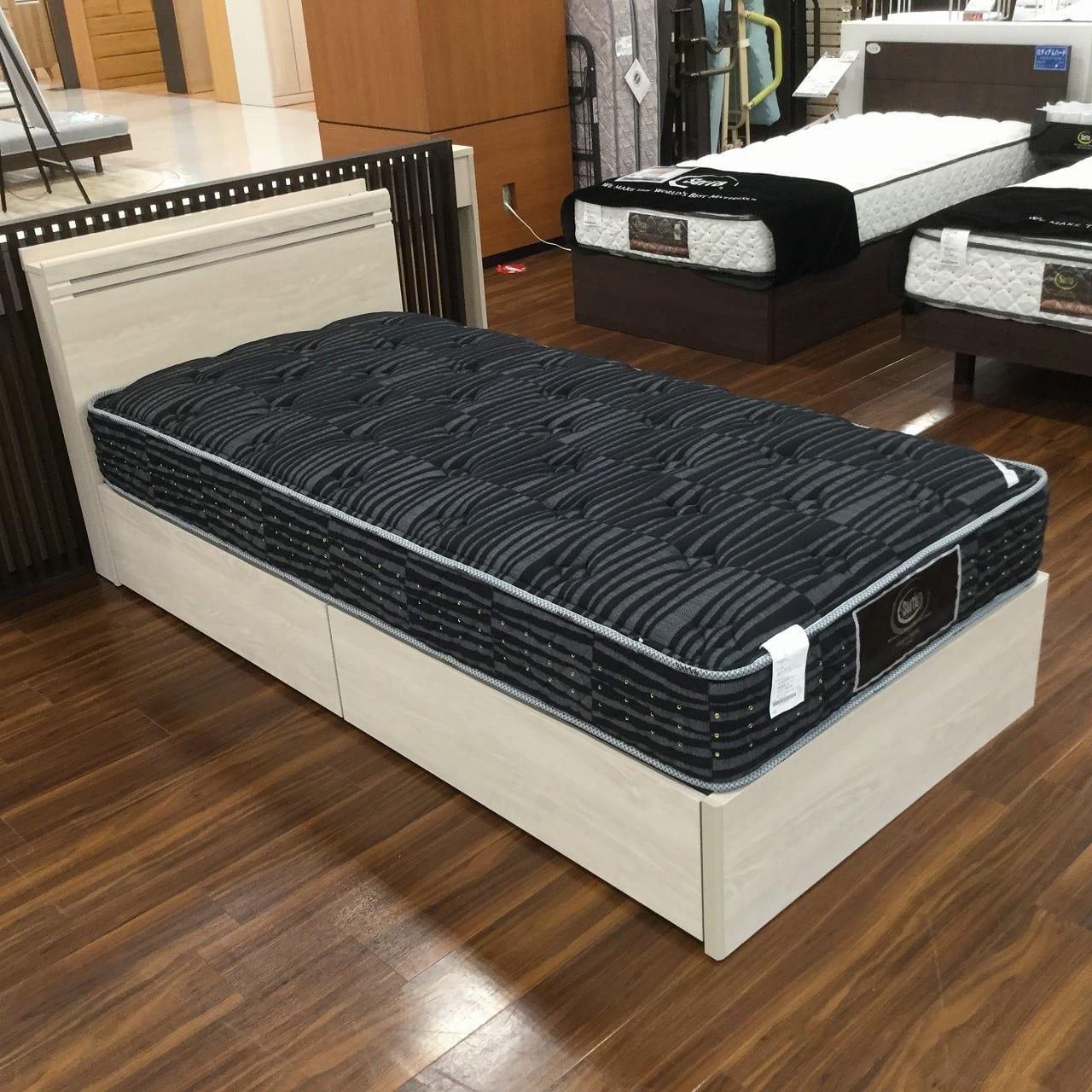 【大和店 展示特価品】 シングルベッド サータペディックメモリー5.8DX/フェミスティ1605BOX290H