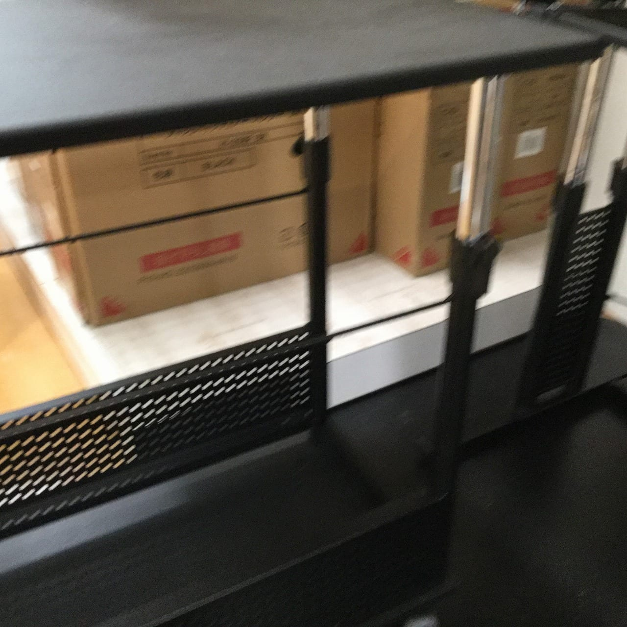 【大和店 展示特価品】 デスク4点セット BDH-1200M/BHP-K90/BMA200N−BK/BHD-820H