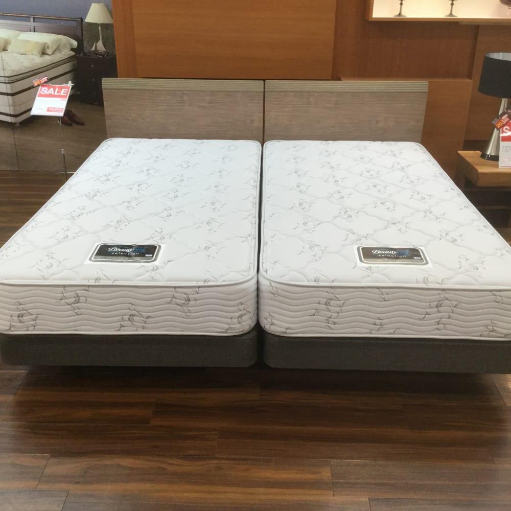 【大和店 展示特価品】 シングルツインベッド【シモンズ】 デュアルサポート20DC