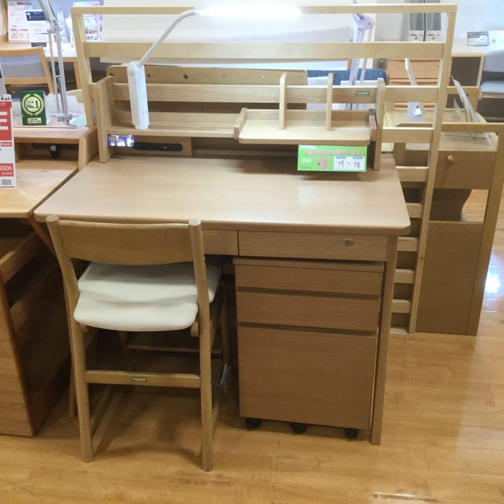 【大和店 展示特価品】 学習机+椅子 SUNWOOD(Mワゴン)/G-65DX