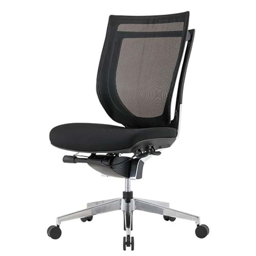 【法人様専用商品】オフィスチェア VIGOR−ST 背:メッシュ アルミ脚 VIG-A50M0-MF:高級感と重厚感のある回転椅子です。