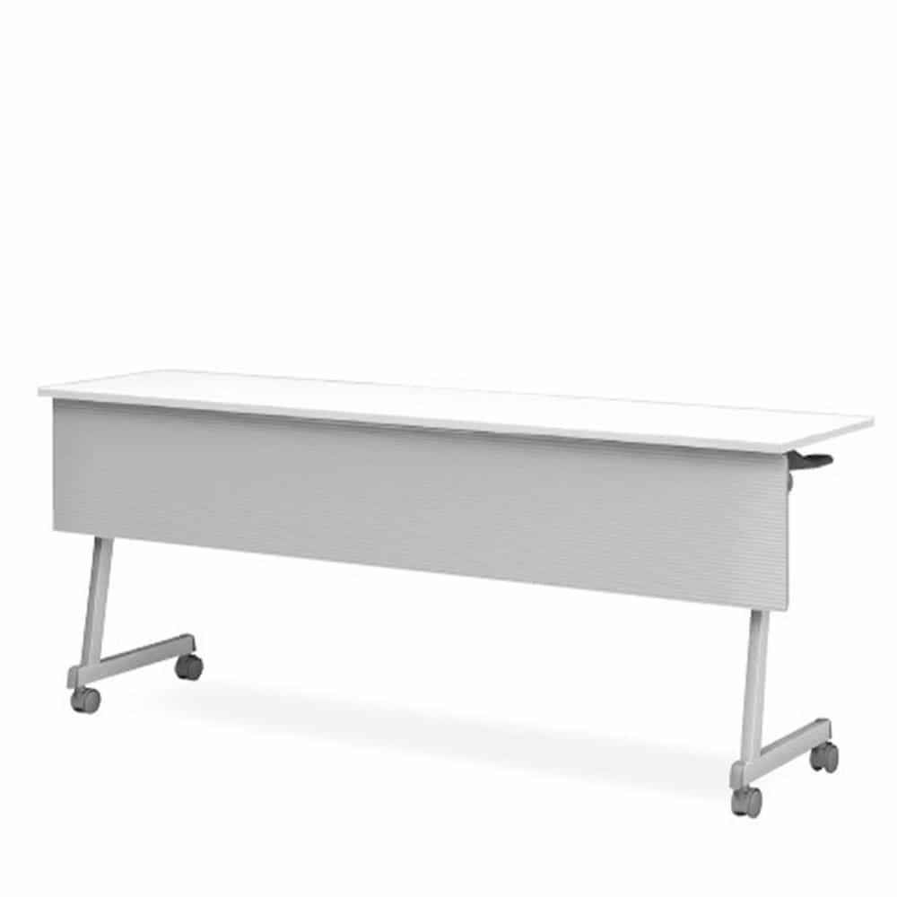 【法人様専用商品】テーブル《FT89》Z脚・幕付・棚付 CFT89Z-1245MT:スリムな収納を実現。お買い得でスタイリッシュなテーブルです。