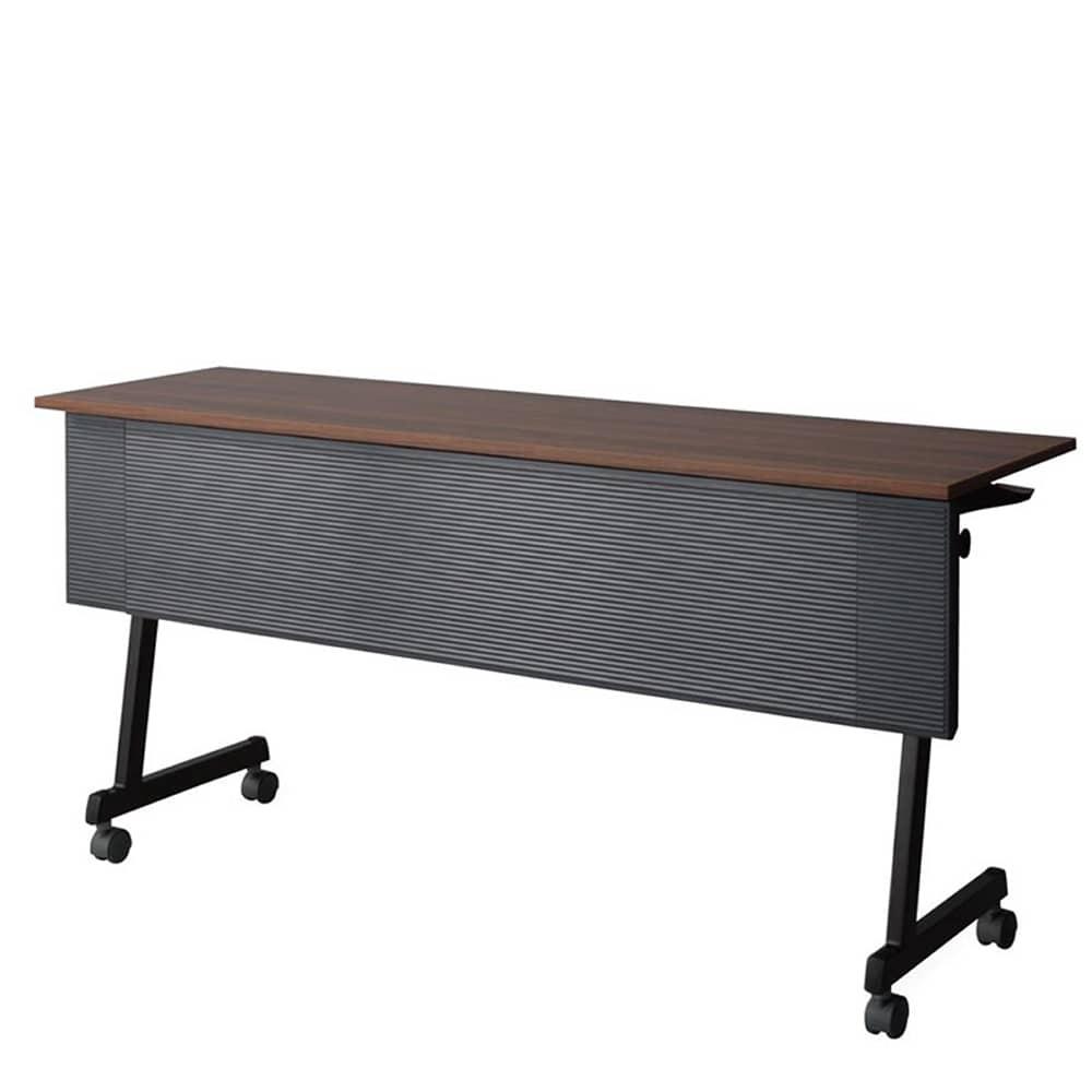 【法人様専用商品】テーブル《FT89》ZB脚 幕付 棚付 CFT89ZB-1545MT:スリムな収納を実現。お買い得でスタイリッシュなテーブルです。
