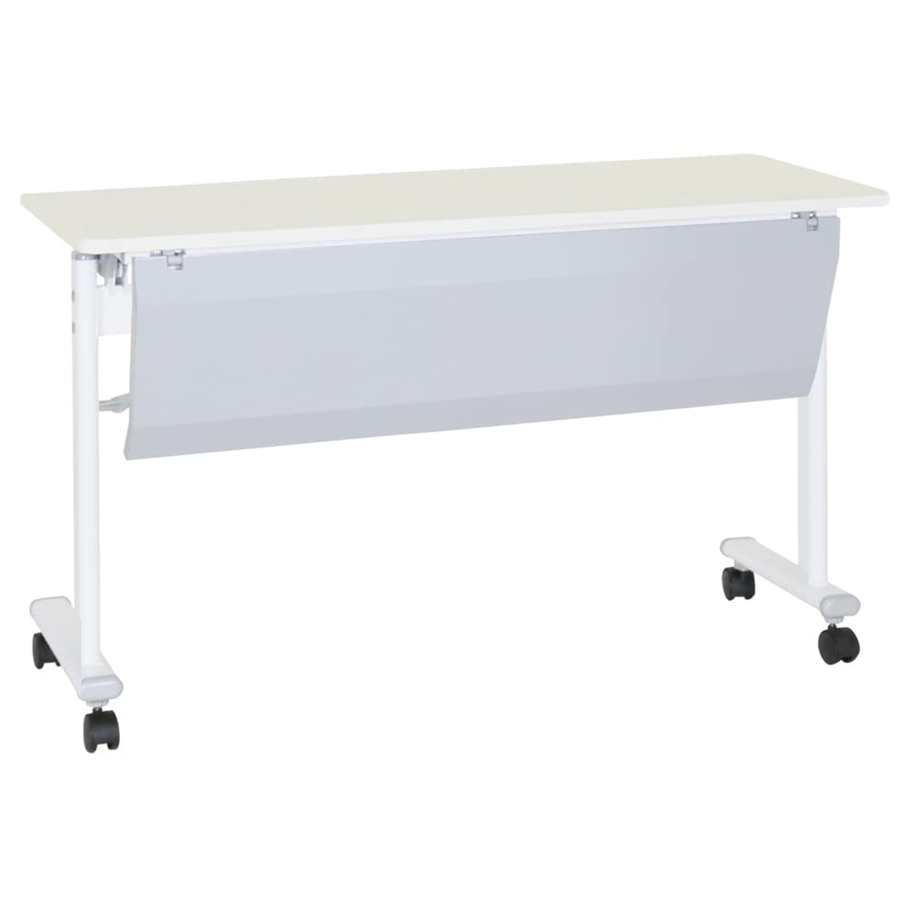 【法人様専用商品】テーブル 幕板付 ASTF−1245P−WH ≪送料無料≫