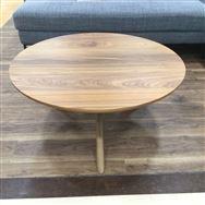 【ホームズ与野店 展示特価品】 センターテーブル ウォールナット無垢 直径85�p