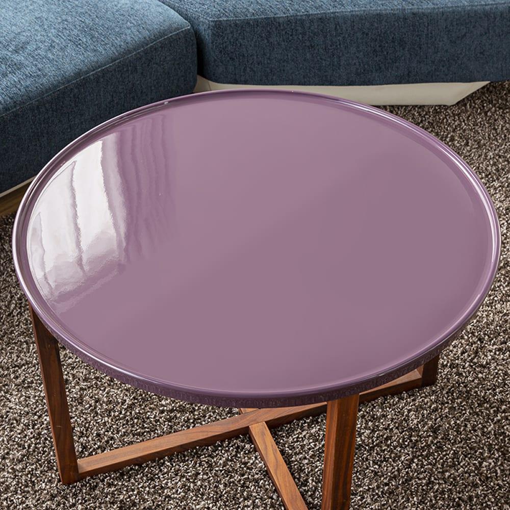 リビングテーブル CITY C−64 60ティーテーブル:UV塗装天板