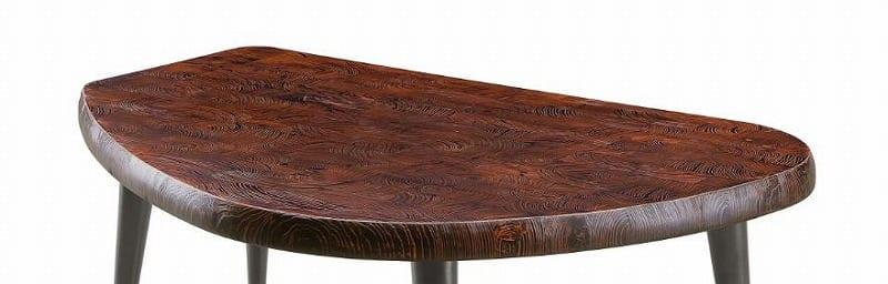 ダイニングテーブル天板 VILLA KQ−111/160変形テーブル板 BK&RE:ダイニングテーブル天板
